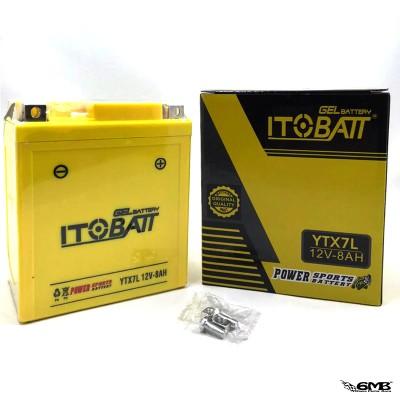ITOBATT Battery Vespa LX, S, Sprint, Primavera 12V-8AH