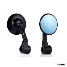 HD Corse Round Shape Back Mirror Black